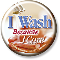 I Wash Because I Care Button