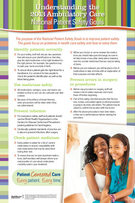 engage patients and visitors in safety our simply said poster