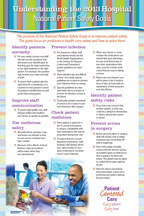 2013 National Patient Safety Goal Poster for Hospitals