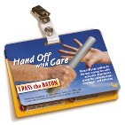 Hand Off Communications Badgie™ Card