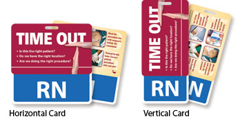 Time Out I.D. Peek-a-Boo Cards (Horizontal & Vertical)