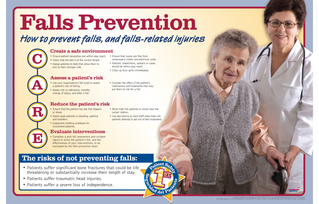 falls prevention Falls aren't good for anyone but it's extra important to avoid accidents if you have osteoporosis or if you've got low bone density, also called osteopenia.