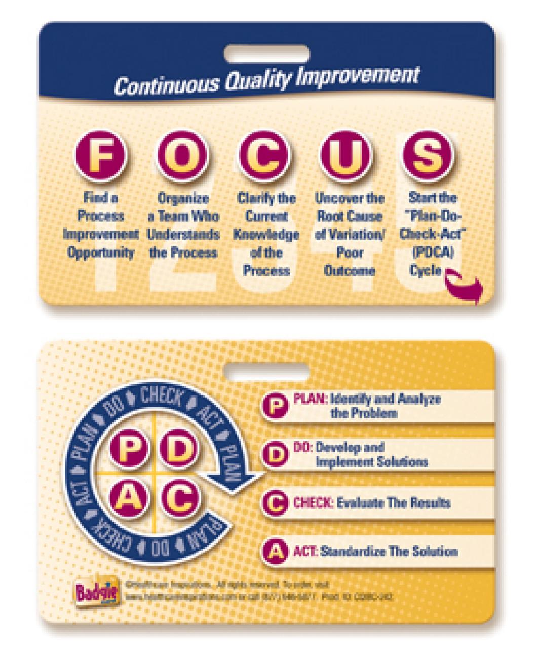 focuspdca badgie� card