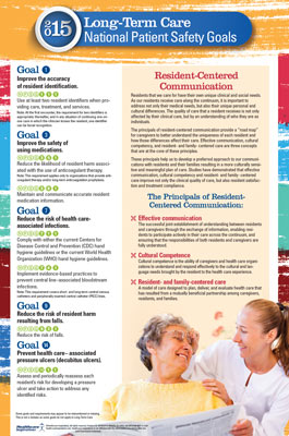 2015 National Patient Safety Goal Poster for Long-Term Care